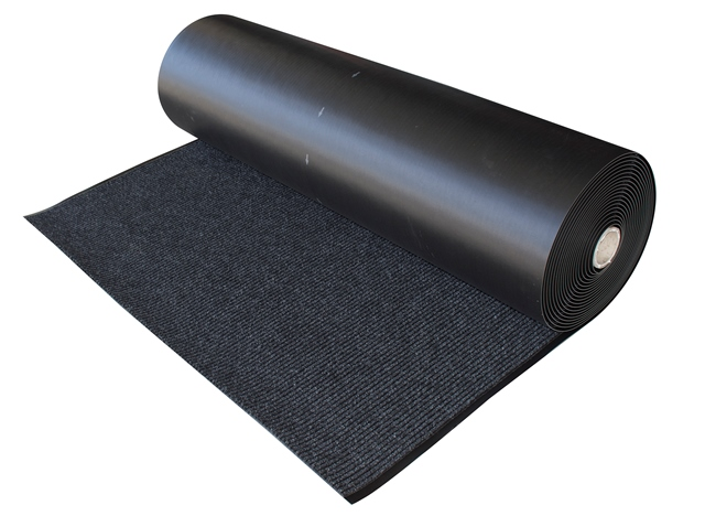 Black Mat Ribbed Runner 1 2m X 10m Roll